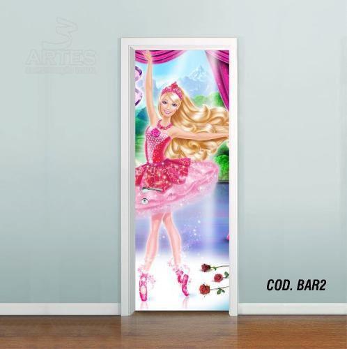 Adesivo De Porta Barbie Sapatilhas Magica #02