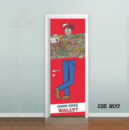 Adesivo De Porta Onde Está O Wally mod02