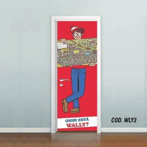 Adesivo De Porta Onde Está O Wally mod03