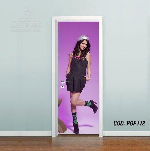Adesivo De Porta Selena Marie Gomez mod04