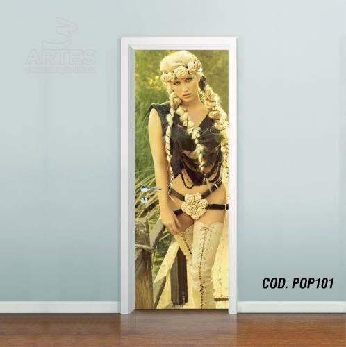 Adesivo De Porta Kesha Rose mod02