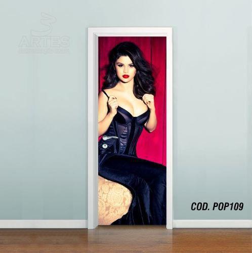 Adesivo De Porta Selena Marie Gomez mod01