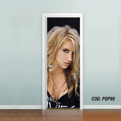 Adesivo De Porta Kesha Rose mod06