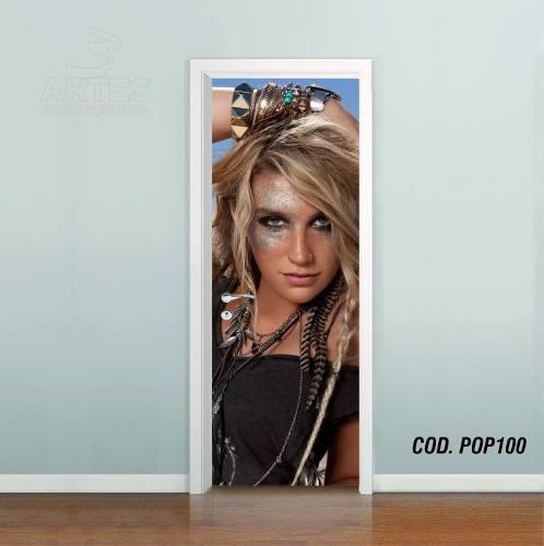 Adesivo De Porta Kesha Rose mod01