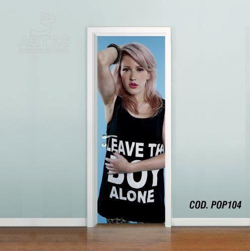 Adesivo De Porta Ellie Goulding mod01