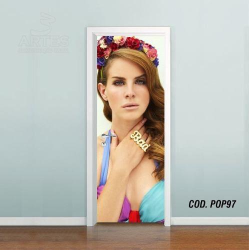 Adesivo De Porta Lana Del Rey mod05