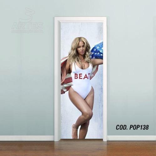 Adesivo De Porta Beyoncé Knowles mod01