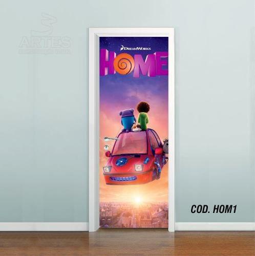 Adesivo De Porta Cada Um Na Sua Casa - Home mod01