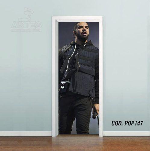 Adesivo De Porta Drake Rapper