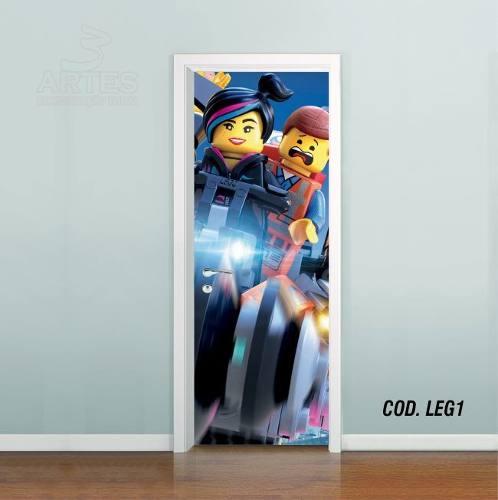 Adesivo De Porta Uma Aventura Lego mod01