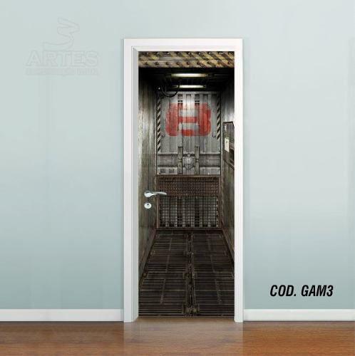 Adesivo De Porta Metal Core Elevador