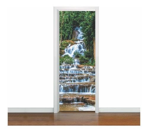 Adesivo De Porta natureza 3 Artes (cod.nt14) 2,10x0,80m