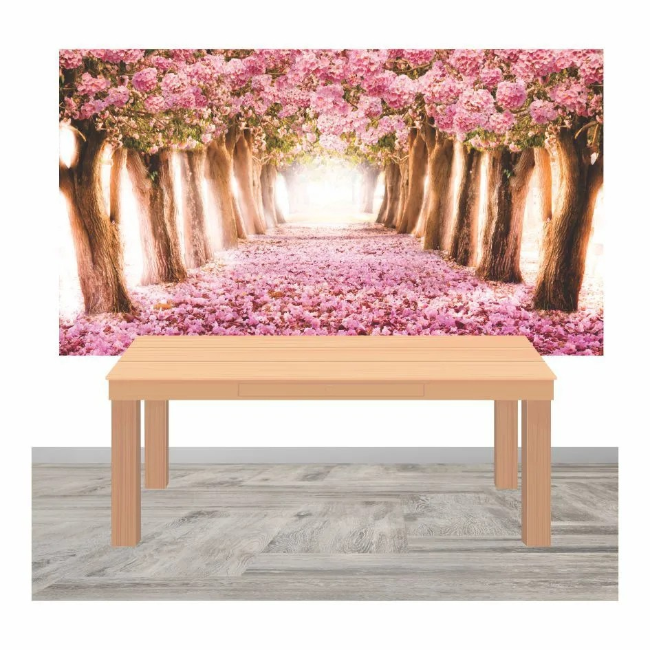 Painel Lona Floresta Jardim Encantado mod05