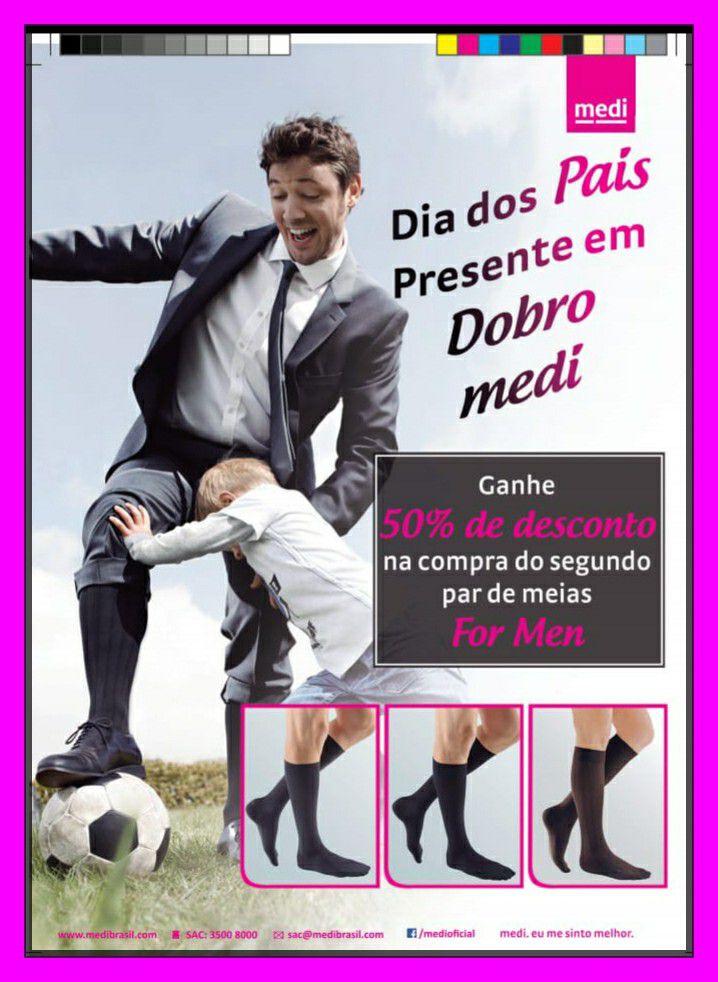 Meia 3/4  Mediven For Men 20-30 mmHG Ponteira Fechada