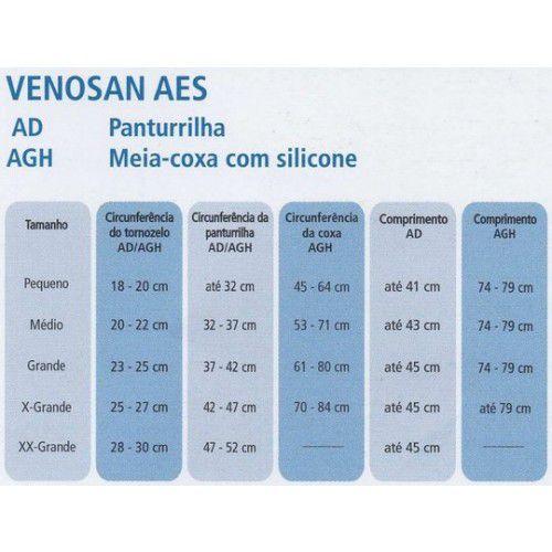 Meia Antitrombo Venosan 3/4 18mmHg Ponteira Aberta