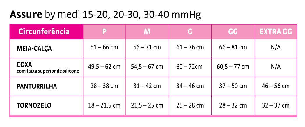 Meia calça mediven sher soft 20-30mmhg PONTEIRA FECHADA
