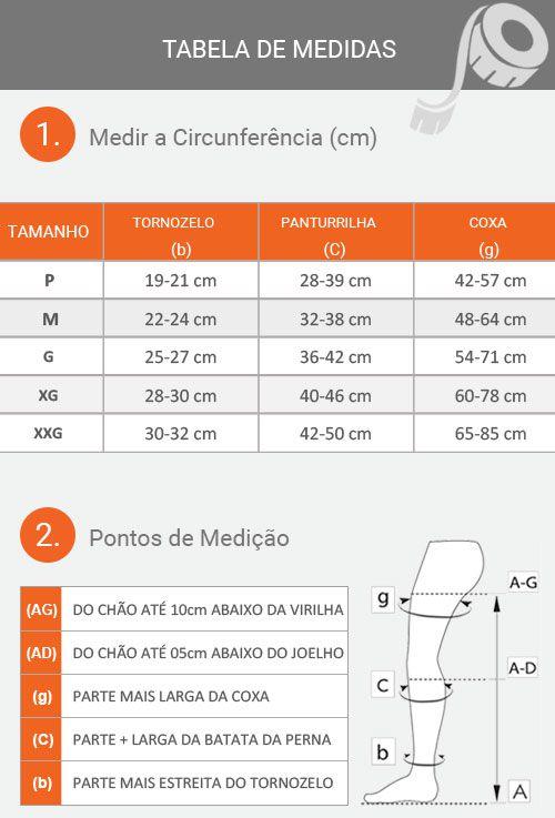 MEIA PANTURRILHA 30-40 MMHG  ABERTO ASSURE MEDI