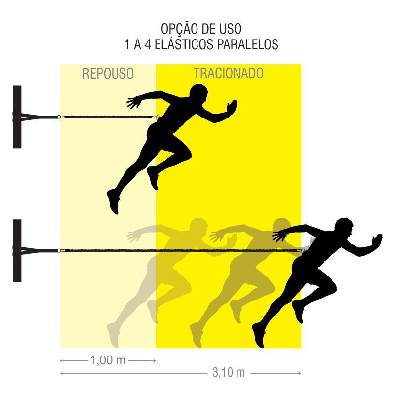 Cinto de Tração Ajustável 4 Elásticos 1M Individual Simples