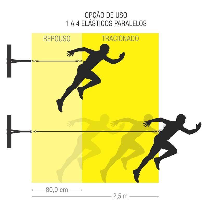 Cinto de Tração Ajustável 4 Elásticos 80Cm Individual Simples