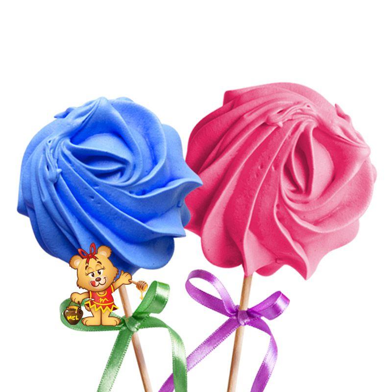 Rosas de Suspiro - Kit com 5 unidades  - www.doceriamirabella.com.br