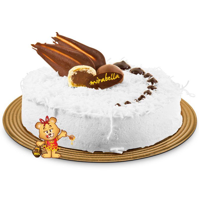 Torta Mousse Sonho de Coco  - www.doceriamirabella.com.br