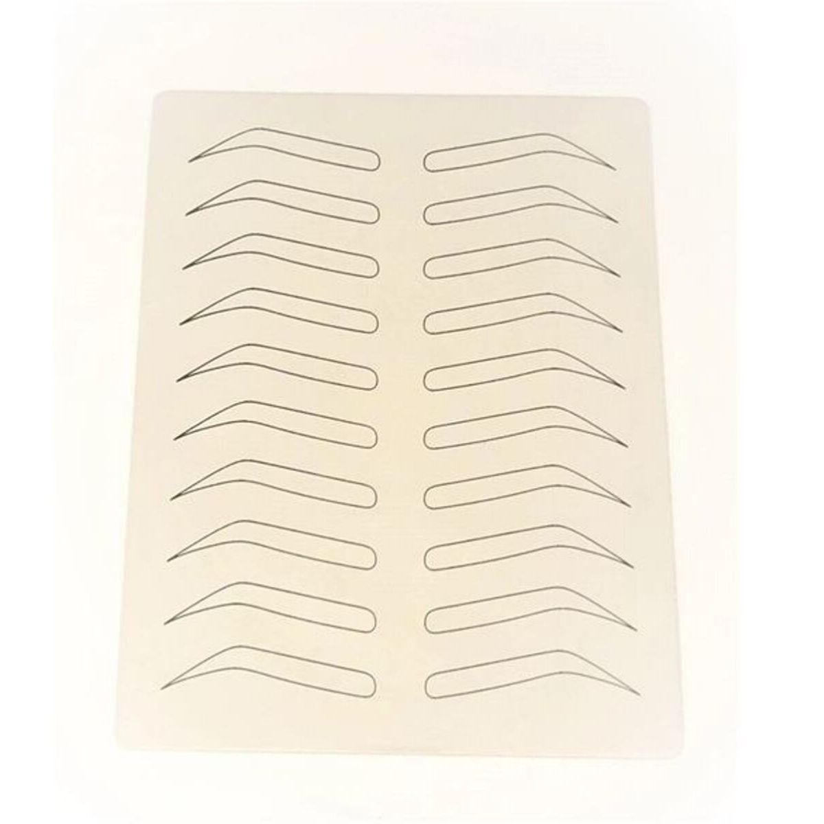 Pele Sintética Com Desenho Sobrancelha Treino Micro 14x19cm