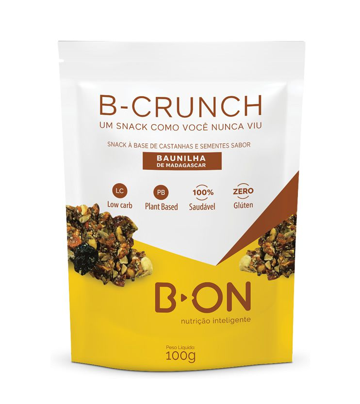 B-CRUNCH Baunilha de Madagascar 100G - B-ON