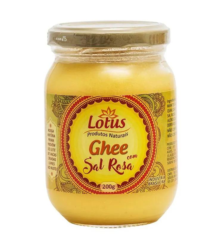 Lotus Ghee com Sal Rosa do Himalaia 200g Zero Lactose e Zero Caseína - Lotus