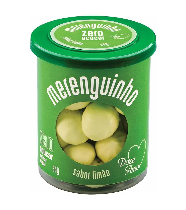 Merenguinho sabor Limão ZERO açúcar 35g - Doce amor