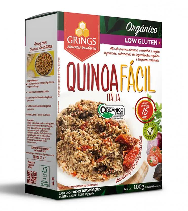 Quinoa fácil Itália Orgânica 100g - Grings Alimentos Saudáveis