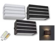 Arandela Frisada Frizzy Retangular 2 Fachos e 3 Frisos Uso Externo e Interno + Lâmpada de LED 7W