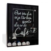 Quadro Suporte Porta Cápsulas de Parede Cheiro de Café (Nespresso)