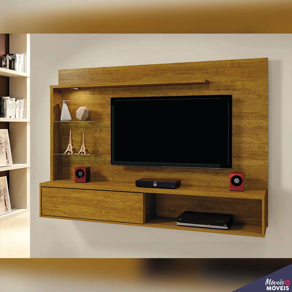 Painel para TV até 55 Polegadas com LED 1 Porta Kansas Mavaular