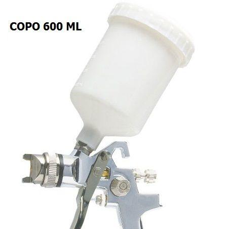 Caneca 600 ml HVLP Rosca Femêa