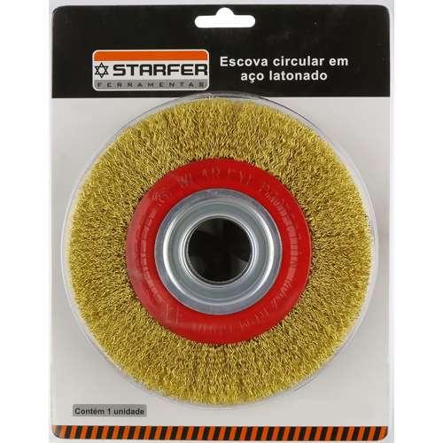 Escova Aço circular .Starfer 6 X 1/2 C/Redução