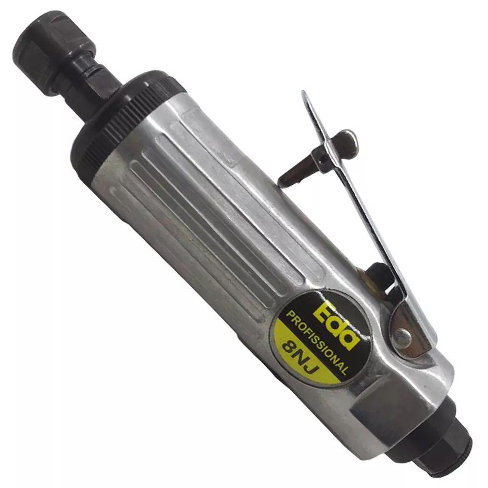 Esmerilhadeira Pneumática 22000rpm - 8NJ Kit com Maleta - Eda