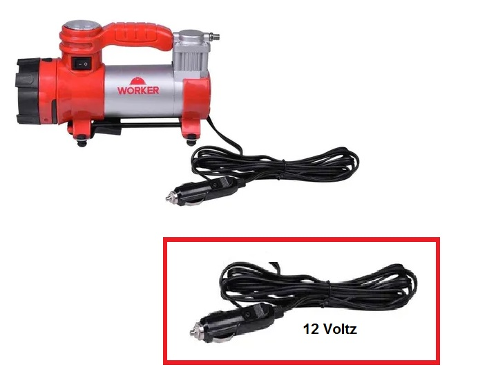 Motocompressor Ar Direto 12V Multifuncional - Worker