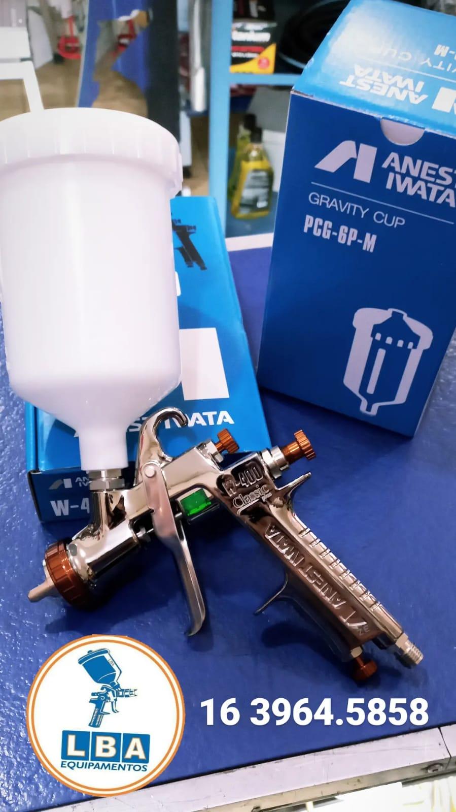 Pistola de pintura W-400 BELLARIA - Anest-Iwata
