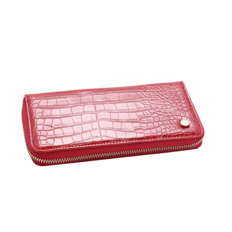 Carteira Feminina Chenson P/dinheiro Com Ziper Croco Deluxe 5136