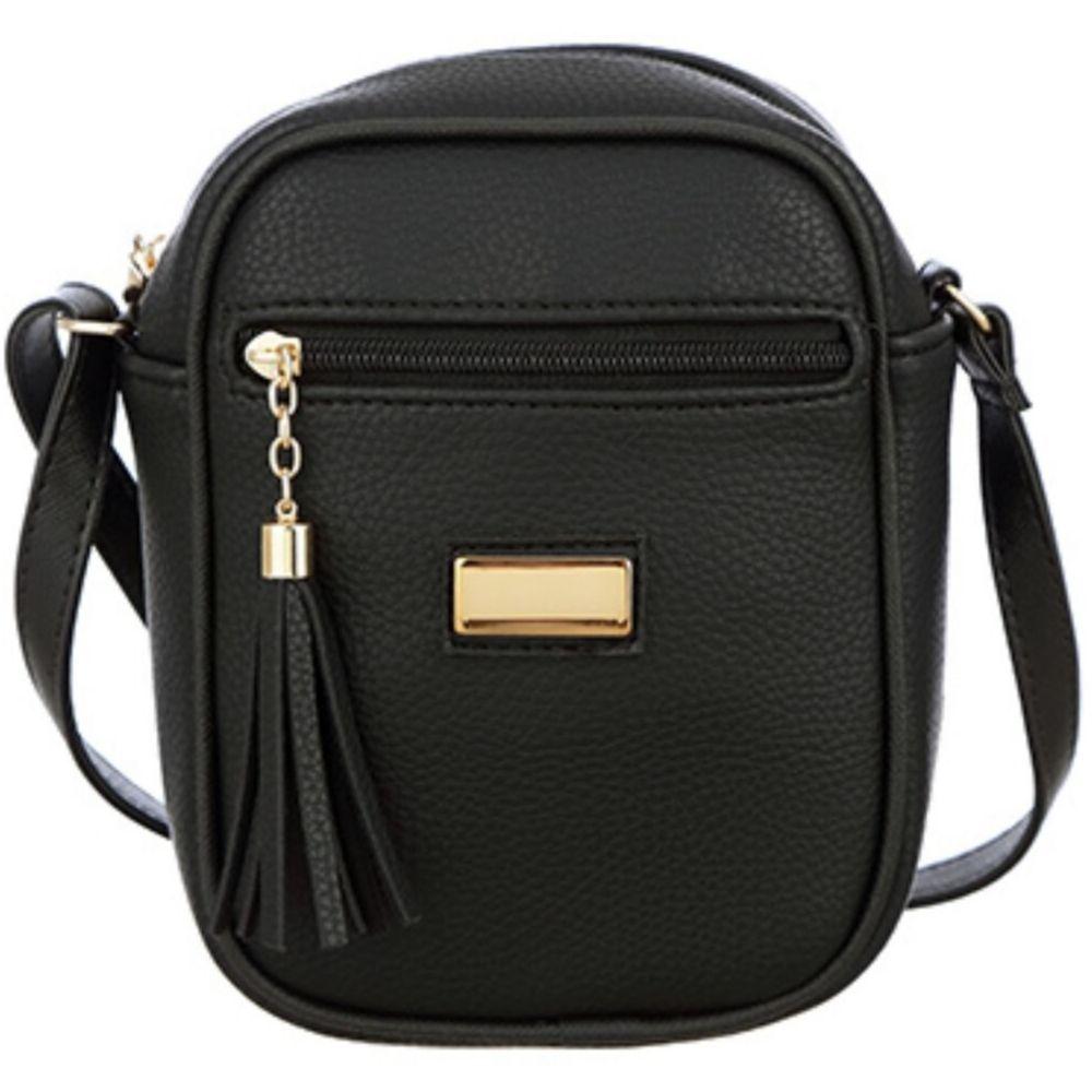 Bolsa MeVisto Transversal Shoulder Bag Preto