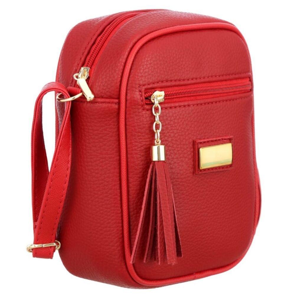 Bolsa Tiracolo Shoulder Bag MeVisto Vermelho