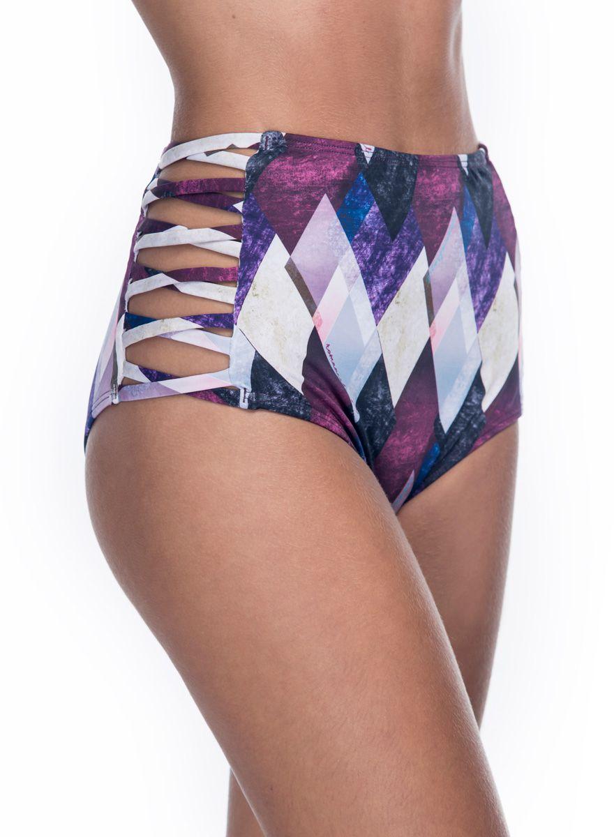 Calcinha Hot Pants Lateral Cruzada Violet