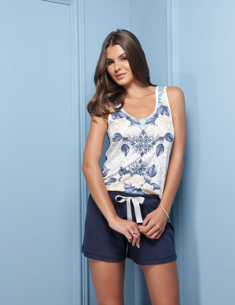 Short Doll Adulto Floral