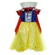 Vestido Branca de Neve Luxo Infantil