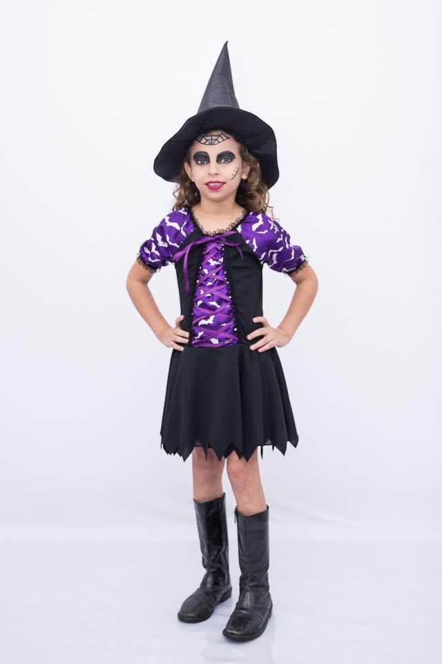 Fantasia Bruxinha Morceguinho 1 Infantil