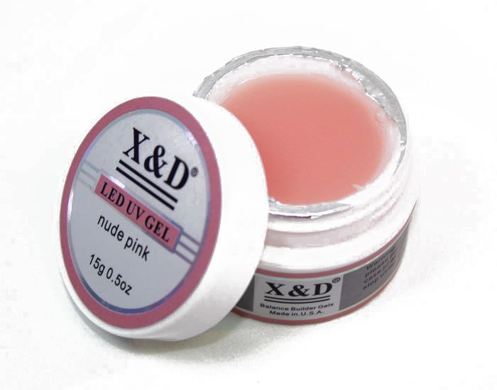 Gel De Unha Led Uv X&d Pink Nude 56g Acrigel