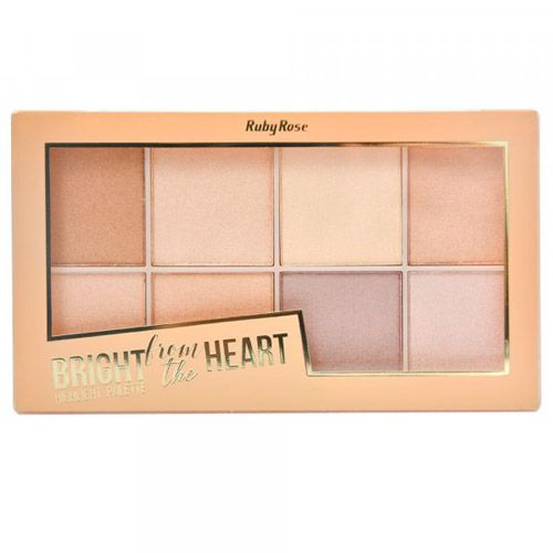 PALETA ILUMINADORA RUBY ROSE - BRIGHT FROM THE HEART