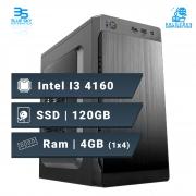 Computador Office Intel Core I3 4160, Ssd 120GB, 4GB DDR3, 200W