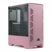 Gabinete Gamer Redragon Starscream Mid Tower Vidro  Pink S/ Fonte S/ Fan GC-610P