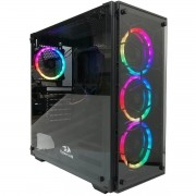 Gabinete Gamer Redragon Wheel Jack Mid Tower Vidro S/ Fonte S/ Fan GC-606BK